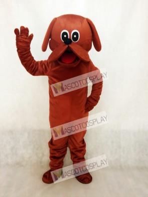 Reddish Brown Rooney Dog Mascot Costume