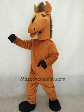 Brown Mustang Mascot Costume
