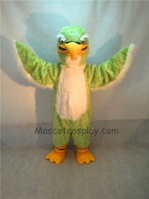Green and White Falcon Mascot Costume