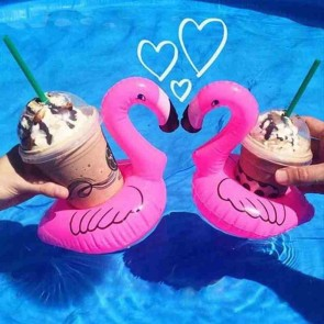 Inflatable Drink Mat Water Toy Flamingo Shape