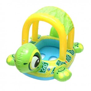 Inflatable Swim Float Toys Cartoon Turtle Shape Water Sport For Baby Kids