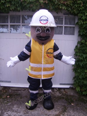 Safety Builder Mascot Costume