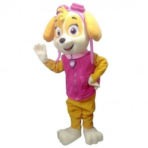 Pink Girl Paw Patrol Skye Mascot Costume Dog Cartoon Character