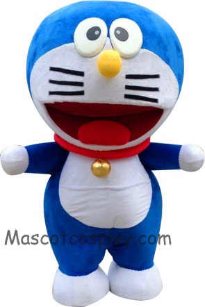Popular Janpanese Cartoon Anime Lovely Blue Round Doraemon Mascot Costume