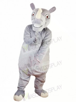 Happy Rhino Rhinoceros Mascot Costume Fancy Dress Custom Cosplay Theme Mascot