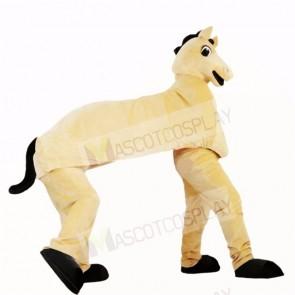 Cute Two Man Horse Mascot Costumes Cartoon