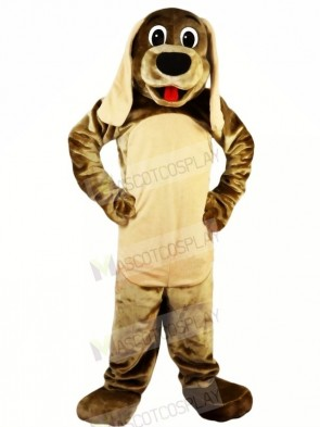 Cute Brown Dog with Long Ears Mascot Costumes Animal