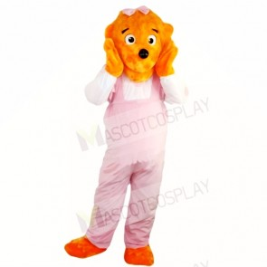 Girl Funny Lion with Pink Jumpsuits Mascot Costumes Cartoon