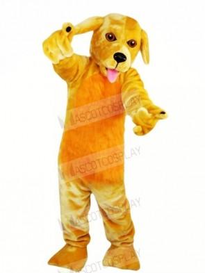Funny Yellow Dog Mascot Costumes Cartoon