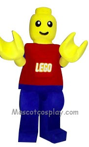Lego Man Mascot Character Costume Fancy Dress Outfit