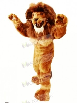 Friendly Power Lion Mascot Costumes Adult