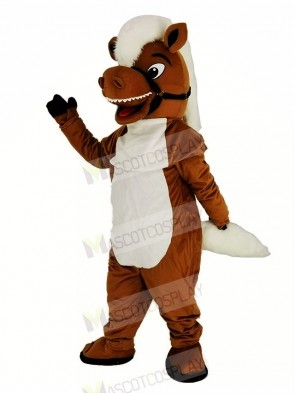 Brown Stable Horse Mascot Costume