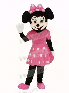 Pink Minnie Mouse Adult Mascot Costume