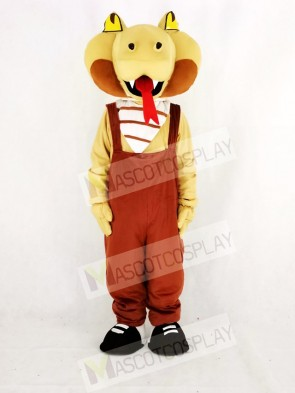 Realistic Cobra Snake in Brown Mascot Costume College