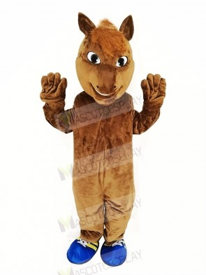 Brown Horse Race Mascot Costume