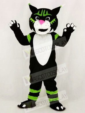 Black Wildcat Mascot Costume School