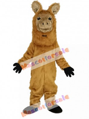 Brown Alpaca Sheep Mascot Costume Animal