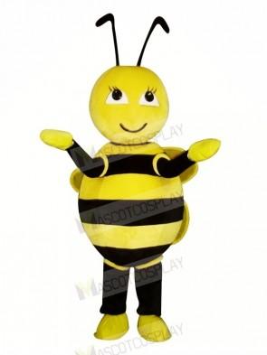 Cute Little Yellow Bee Mascot Costumes Cartoon