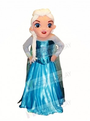 Frozen Elsa Mascot Costume Cartoon
