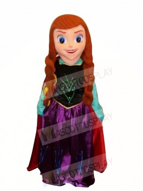 Frozen Anna Mascot Costume Cartoon