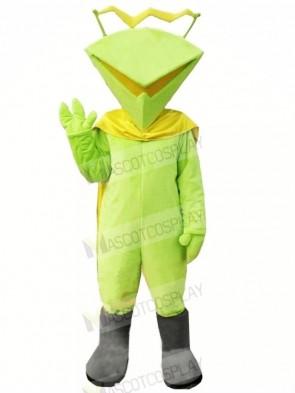 Funny Martian in Green Mascot Costume Cartoon