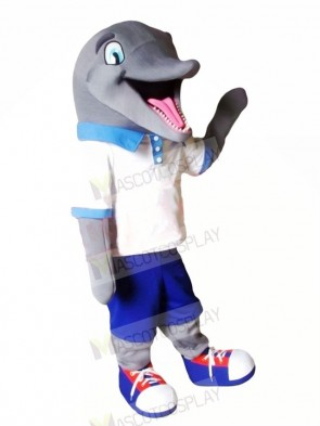 Cute Sport Dolphin Mascot Costume Cartoon