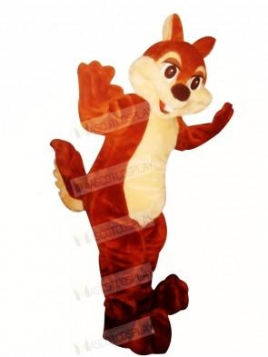 Smiling Chipmunk Mascot Costume Cartoon