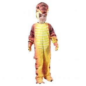 Red T-Rex Dinosaur Costume Dinosaur Jumpsuit Halloween Christmas Dress up Gift for Kid