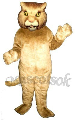 Cute Wildcat Cat Tiger Mascot Costume