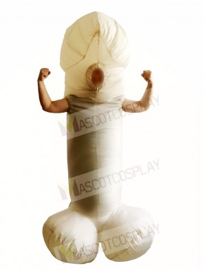 White Willy Cock Dick Sexy Penis Inflatable Halloween Christmas Costumes for Adults