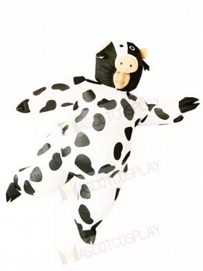 Cow Milk Cattle Inflatable Halloween Christmas Costumes for Adults