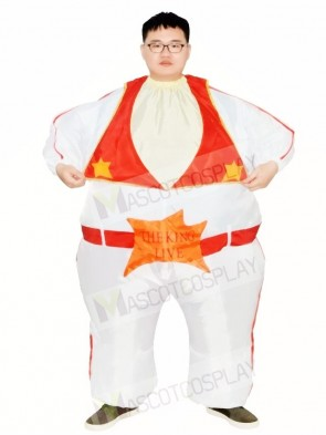 Elvis Presley Singer The King of Rock and Roll Inflatable Halloween Christmas Costumes for Adults