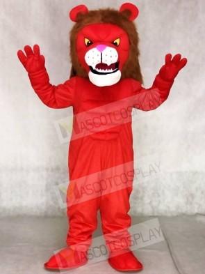 Red Power Cat Lion Mascot Costumes Animal