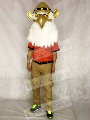 Golden American Eagle Mascot Animal Head Only