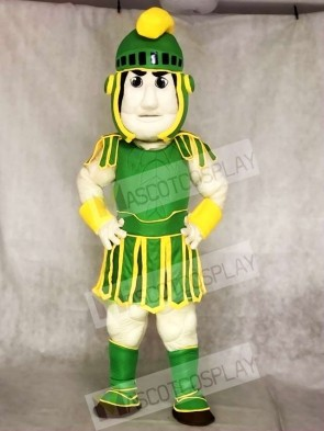 Green and Yellow Spartan Trojan Knight Sparty Mascot Costumes Fancy Carnival Cosplay