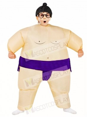 Purple Japanese Fat Man Sumo Inflatable Halloween Christmas Costumes for Kids