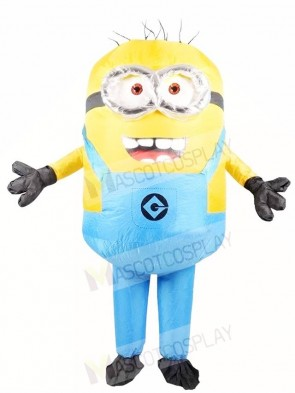 Despicable Me Blue Two Eyes Minions Inflatable Halloween Christmas Costumes for Adults