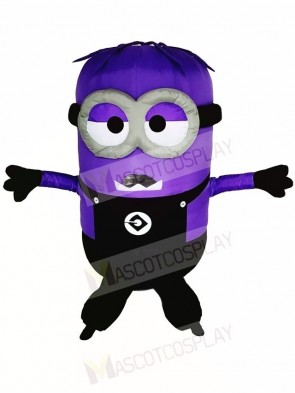 Despicable Me Purple Two Eyes Minions Inflatable Halloween Christmas Costumes for Adults