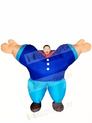 Blue Sailor Inflatable Halloween Christmas Costumes for Adults