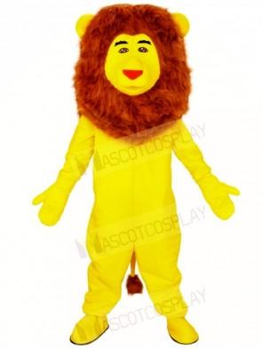 Yellow Lion Brown Mane Mascot Costumes Animal