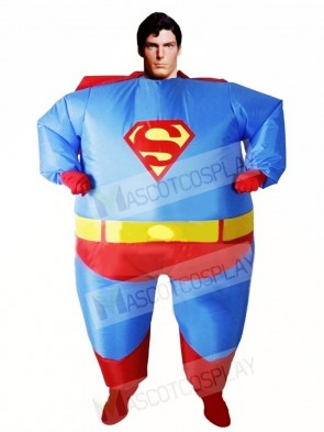 Superman Superhero Cosplay Inflatable Halloween Christmas Costumes for Adults