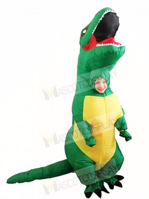 Green T REX Dinosaur Inflatable Halloween Christmas Costumes for Kids