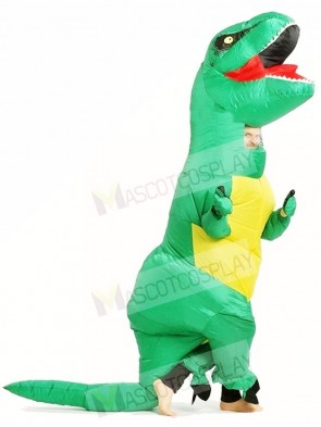 Green T REX Dinosaur Inflatable Halloween Christmas Costumes for Adults