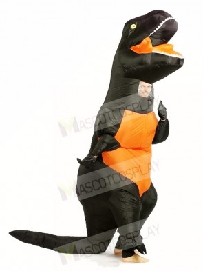 Black T REX Dinosaur Inflatable Halloween Christmas Costumes for Adults