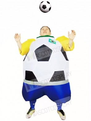 World Cup Brazil Football Soccer Player Inflatable Halloween Christmas Costumes for Adults