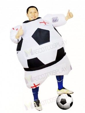 World Cup England Football Soccer Player Inflatable Halloween Christmas Costumes for Adults