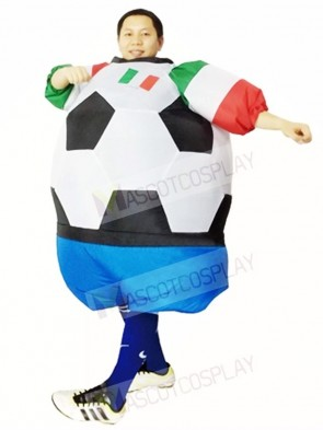 World Cup Italy Football Soccer Player Inflatable Halloween Christmas Costumes for Adults