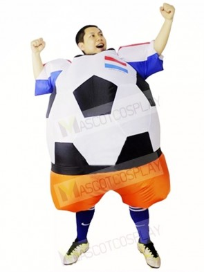 World Cup Netherlands Football Soccer Player Inflatable Halloween Christmas Costumes for Adults
