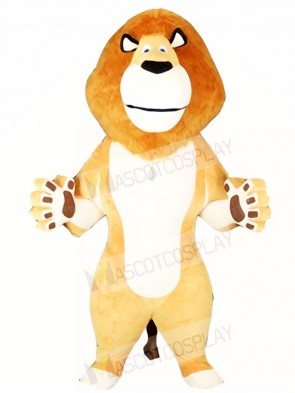 White Belly Lion Mascot Costumes Animal