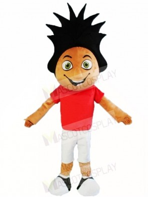 Red Shirt Sport Boy Mascot Costumes People